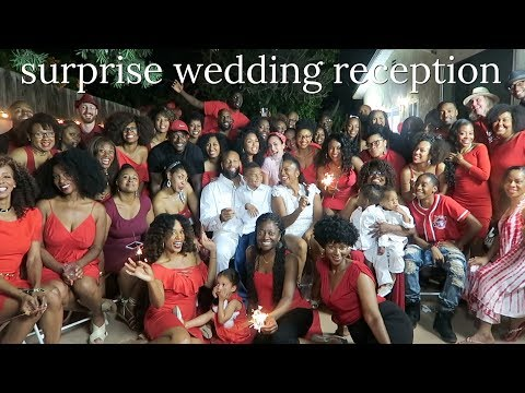 Surprise Wedding Reception| That Chick Angel TV