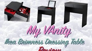 Ikea Brimnes Dressing Table: My Vanity | Saesays