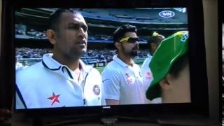 Indian National Anthem, Amitabh Singh singing at Boxing Day Cricket Match MCG 26Dec 2014