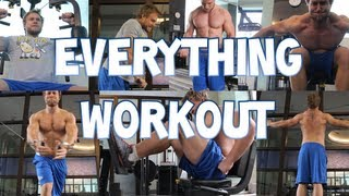 The Everything Workout - Chest, Triceps, Biceps, Back, Shoulders, Legs, Traps | Furious Pete