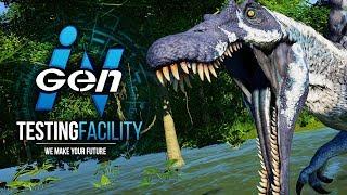 GIANT SPINOSAURUS ROAMS THE SWAMPS! | InGen Testing Facility (Jurassic World: Evolution)