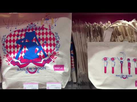 Walkthrough of new Sailor Moon store in Harajuku, Tokyo [RAW VIDEO]