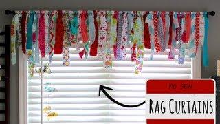 No Sew Rag Curtains