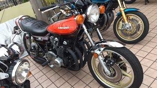 YOSHIMURAエキゾーストサウンドを聞け 美人ライダー 1974 Kawasaki Z1A カワサキ・Z1・900 Super Four 川崎重工業 京都 New york steak
