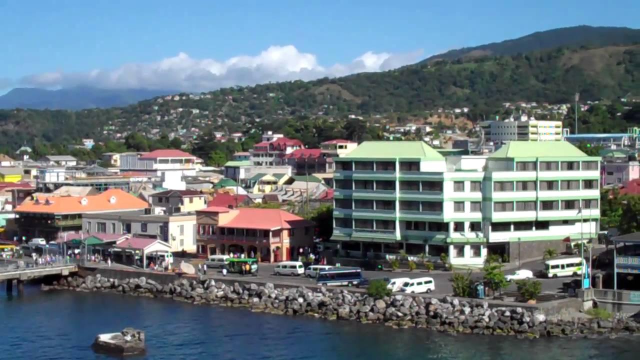 12 >> Overlooking Roseau, Dominica - Caribbean island paradise - YouTube