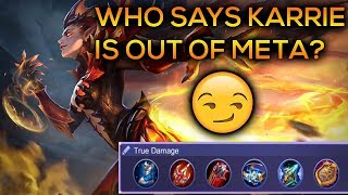 Best Karrie Build - Who Says Karrie Is Out Of Meta? Top Karrie | Mobile Legends