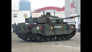 Kaplan MT Medium Tank Harimau FNSS at Indodefence 2018 defense exhibition in Jakarta Indonesia Video