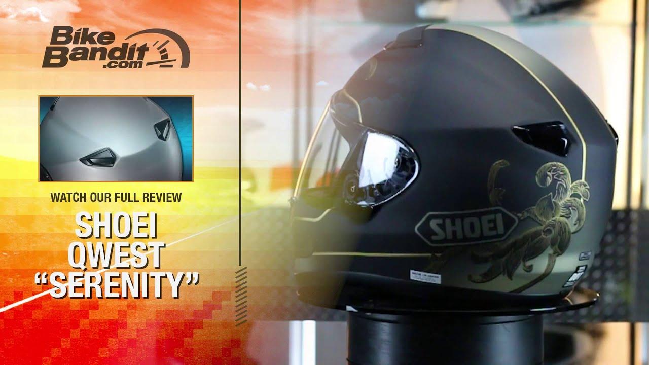 1937874d Shoei Qwest Serenity Motorcycle Helmet   BikeBandit.com - YouTube