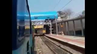 Sabari Express leaving Hyderabad Railway Station on 09-02-2013