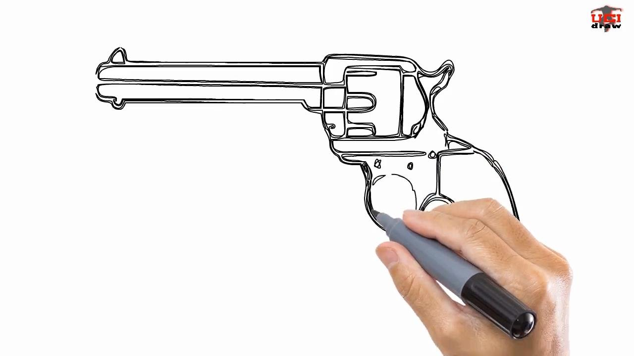 How To Draw A Gun Easy Drawing Step By Step Tutorials For Kids  Ucidraw