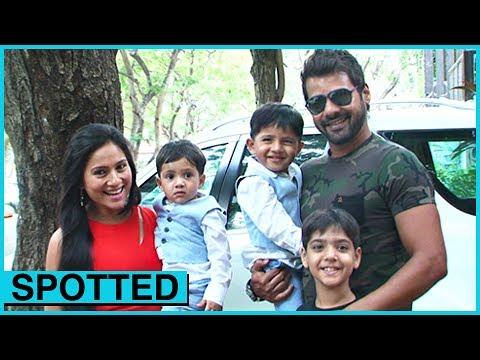Shabbir Ahluwalia SPOTTED With Kids & Wife | Tusshar Kapoor Son First Birthday | Kumkum Bhagya