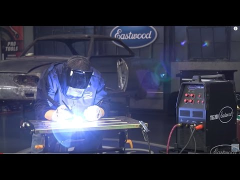 How To TIG Weld Aluminum - LIVE at Eastwood - TIG 200 AC/DC Welder