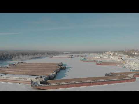 Звениговский затон зимой