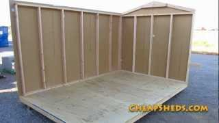 Raising And Attaching Your Storage Shed Walls Video