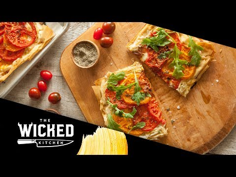 Tomato Phyllo Pizza | The Wicked Kitchen
