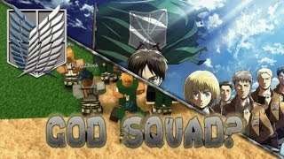 """God Squad""? Luftfinisher?   Roblox   Angriff auf Titan: Rache"