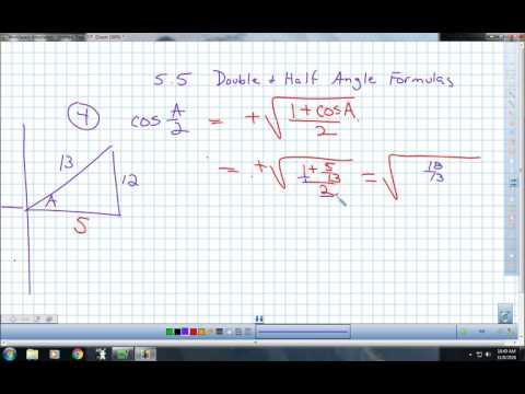 5.4 Double & Half Angle Identities Lecture