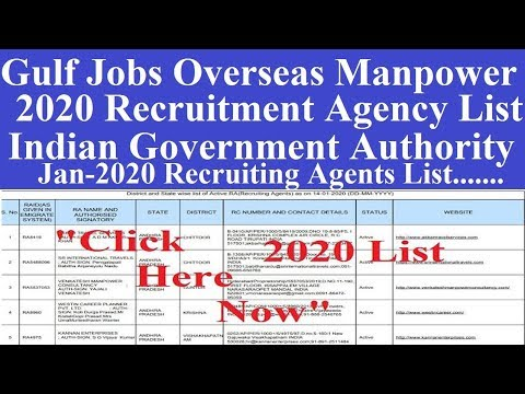 2020 Manpower Recruitment Agency List l Jobs Recruiting Agents List l Search Fake Jobs Agents