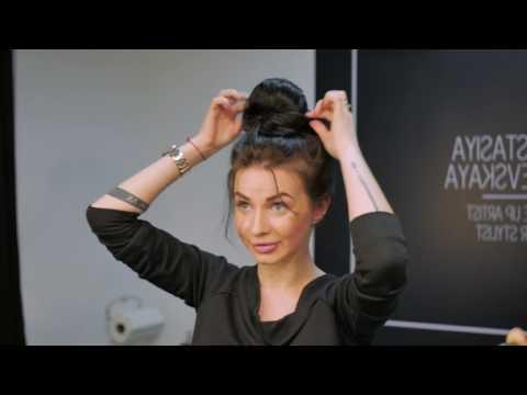 Вопрос: Как сделать растрепанный пучок из очень длинных волос?