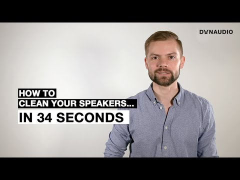 How to clean your speakers in 34 seconds