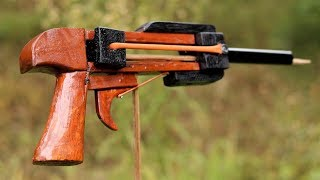 How to Make a Simple Triggered Slingshot at Home, | DIY |