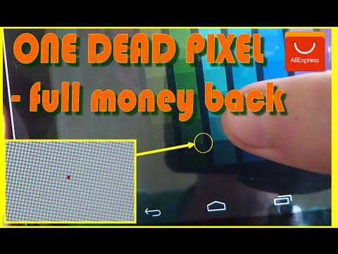 Как определить битый пиксель и вернуть деньги  обратно с алиекспресс