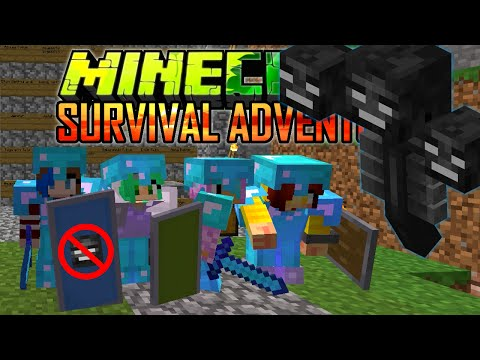 MINECRAFT SURVIVAL ADVENTURE EP21 | WITHER BATTLE & CAKE PARTY WITH THE TACO GANG