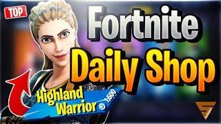 Fortnite Daily Shop *TOP* HIGHLAND WARRIOR SKIN (13 December 2018)