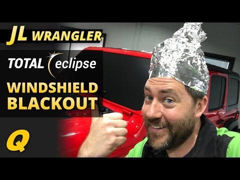 Quadratec Total Eclipse Blackout Decals For 2018 Jeep Wrangler JL