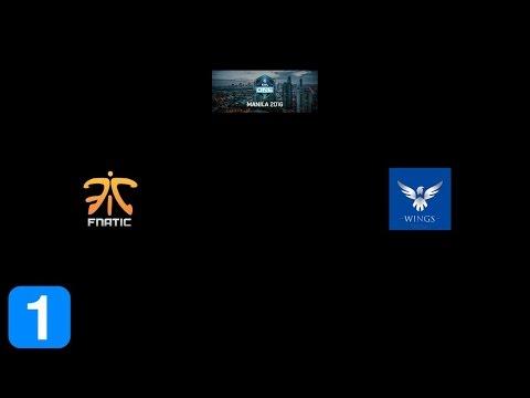 Fnatic vs the wings gaming - ESL One Manila 2016 Full Highlights Dota 2