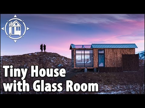 Tiny House with Glass Roof for Northern Lights in Iceland