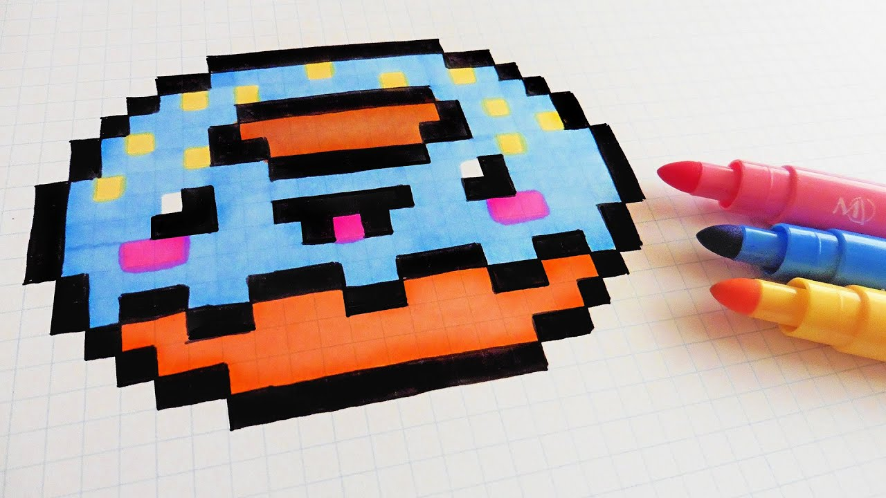 Handmade Pixel Art How To Draw Kawaii Donut Pixelart
