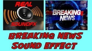 Breaking news sound effect - background music realsoundFX