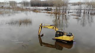 видео Разливы реки Самара / Первый разлив / Озеро Бухенвальд