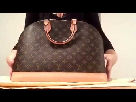 417f558941c9 Authentic Louis Vuitton alma Gm . What fits inside my bag - YouTube