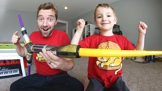Father & Son PLAY WITH CRAZY LIGHTSABER!