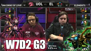 Unicorns of Love vs Elements | S5 EU LCS Summer 2015 Week 7 Day 2 | UOL vs EL W7D2 G3
