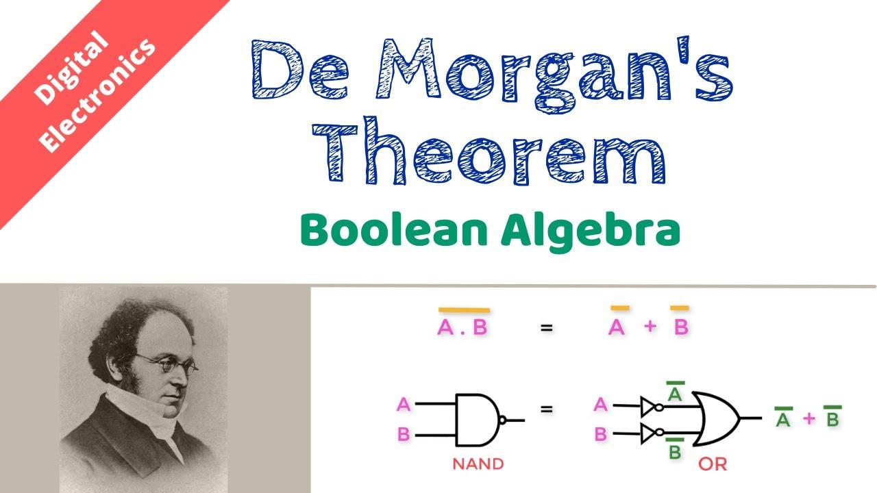 De Morgans Theorem Understand Circuit Simplification Boolean Logic Diagram For Expression Algebra Basics