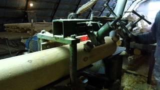видео Профилированный брус с чашками: стоимость нарезки чашкорезом