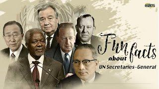 Fun facts about UN Secretaries-General