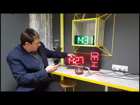 Обзор небольших светодиодных часов для офиса