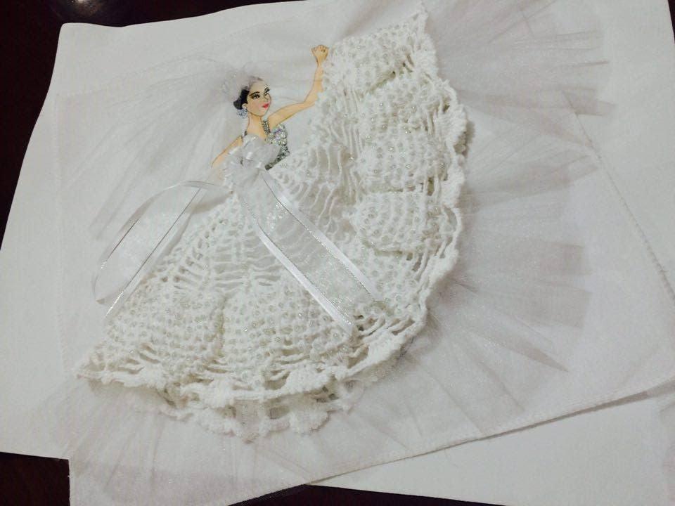 vestido para novia tejido en servilleta parte 1 doovi