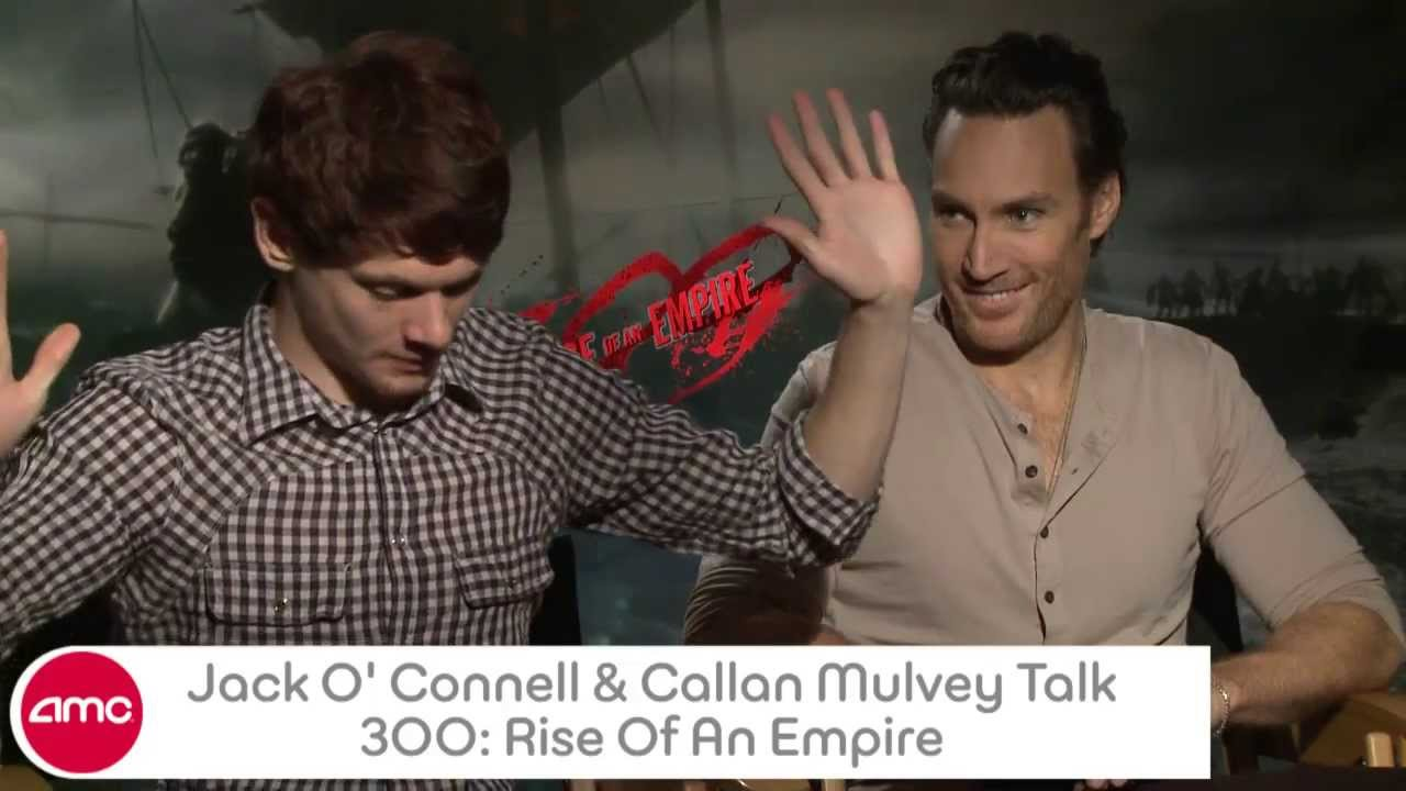 Jack O' Connell & Callan Mulvey Talk 300 RISE OF AN EMPIRE ...