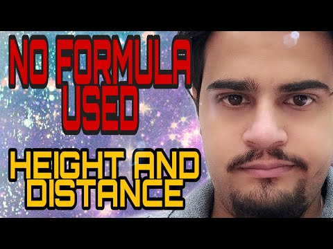 Height & Distance without any formula, I repeat without Formula ! ssc, cds exam