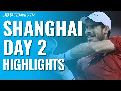 Murray Battles Through; Fognini, Monfils, Shapovalov Win Openers | Shanghai 2019 Day 2 Highlights