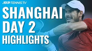 Murray Battles Through; Fognini, Monfils, Shapovalov Win Openers | Shanghai 2019 Day 2 Highlights