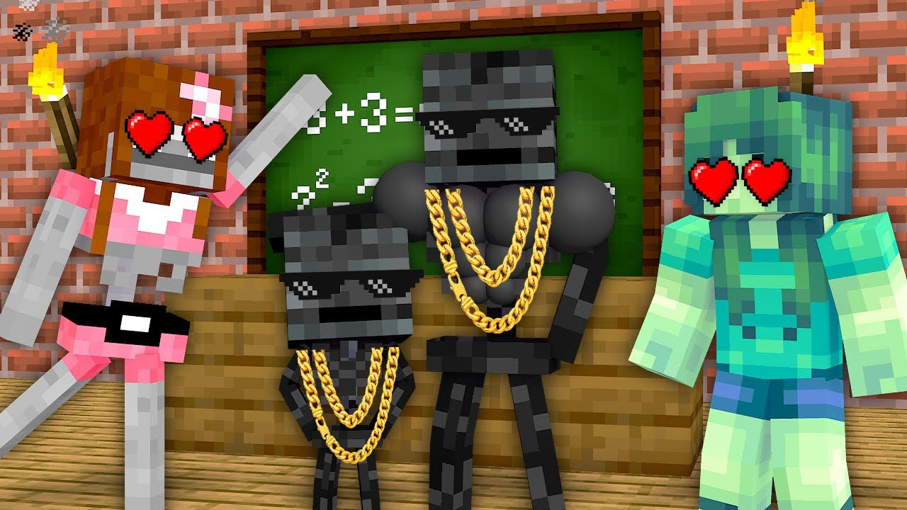 Monster School : Wither Skeleton Family Poor vs Rich - Minecraft Animation