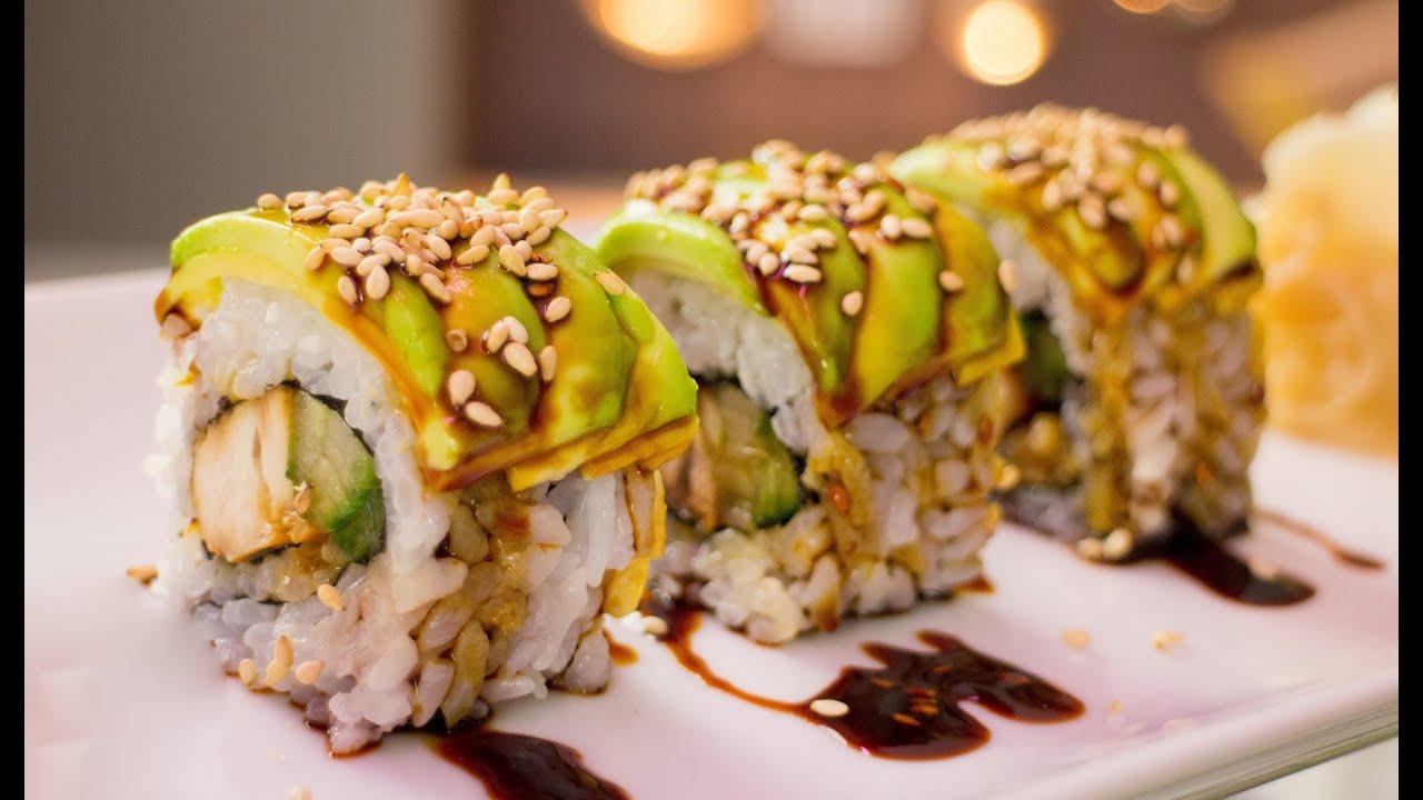 Teriyaki chicken sushi roll recipe youtube forumfinder Gallery