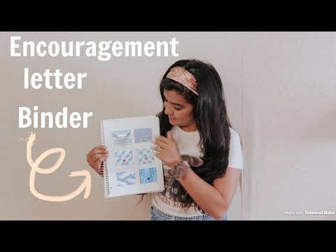 How to make a daily encouragement letter binder | diy under $20