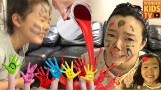 하지마! 얼굴 물감 색칠놀이! 페이스 페인팅 놀이 뽀로로물감 색깔놀이 color PLAY & Learn Colors